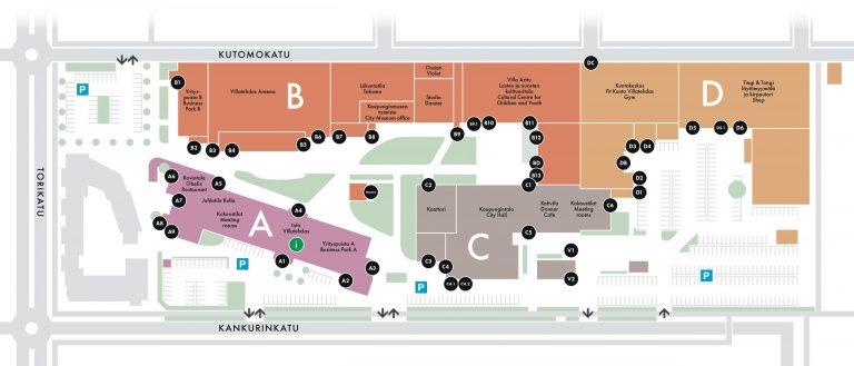 Lakitoimisto Hyvinkää Villatehdas kartta